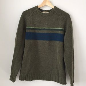 J Crew Wool Sweater - Green